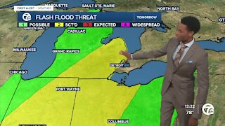 Big drop in temps with a flooding threat