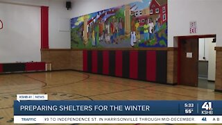 Preparing shelters for the winter
