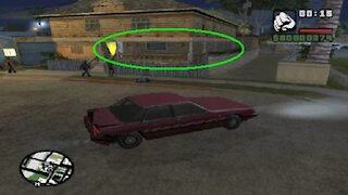 GTA San Andreas secret - Getting to the side porch of CJ's house