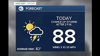 Metro Detroit Forecast: High humidity; multiple chances of heavy rain