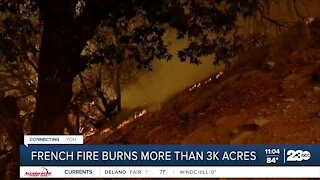 French fire burns more than 3K acres