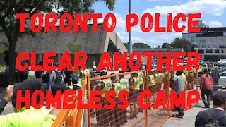 Toronto Police clear another homeless camp at Lamport Park