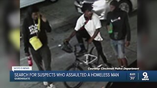 Search for three men who attacked homeless person