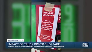 Valley gas shortage partly due to lack of truck drivers