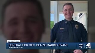 Funeral, procession held for fallen Ofc. Blaize Madrid-Evans