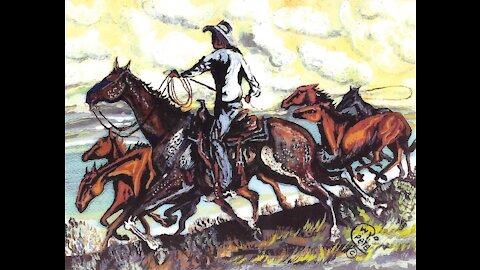 Cowboy Art: Drawings and Paintings by Wyo Pete (Bob Peterson)
