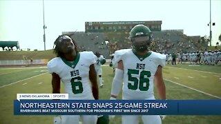 Northeastern State snaps 25-game losing streak