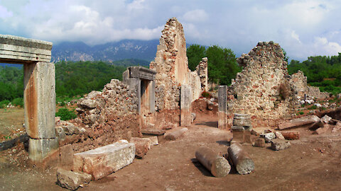 Ancient city Tlos on the Turkish Aegean