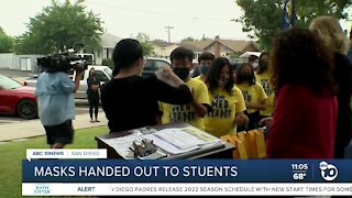 Thousands of masks distributed to National City students
