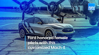 Ford honored female pilots with this customized Mach-E
