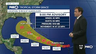 Tracking Tropical Storm Grace