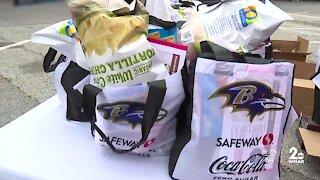Ravens host community meal giveaway