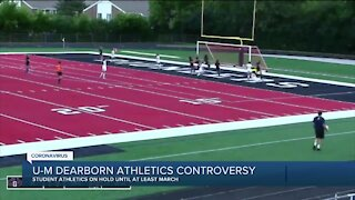 u of M Dearborn athletics controvery
