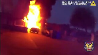 Phoenix police officers help rescue family from house fire