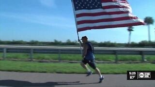Local man honors hero with flag run