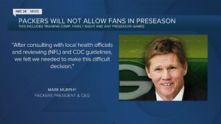 Packers announce no fans at preseason activities