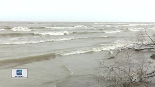 Lake Michigan impacting shoreline