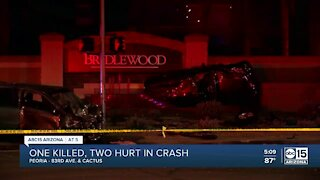 1 dead, 2 injured following two-vehicle crash near 83rd Avenue and Cactus Road
