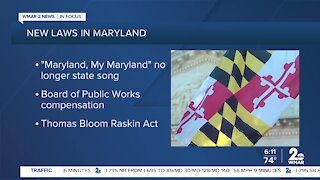 New laws go into effect in Maryland