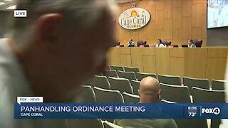 Cape Coral panhandler ordinance meeting