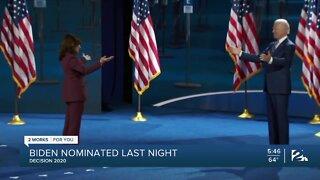 Decision 2020: Biden nominated last night