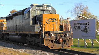 Pair of Ex- Conrail CSX Locomotives on Conrail Shared Assets Train