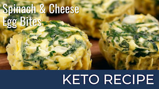 Spinach and Cheese Egg Bites   Keto Diet Recipes