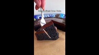 Chocolate cake making at home