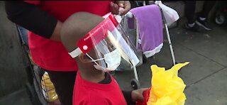 Local child gives care packages to RTC drivers