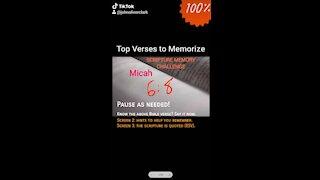 Top Verses To Memorize, Micah 6:8