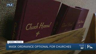 Mask ordinance optional for churches