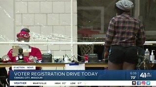 Voter registration drive today