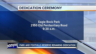 Park and Foothills Reserve renaming dedication ceremony happening Friday