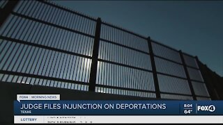 Judge files injunction on deportations