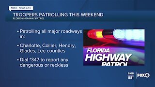 Florida Highway Patrol DUI enforcement detail this weekend