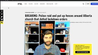 Alberta Church Walled & Fenced Off | Police Bar Worshippers From Building