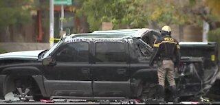 Rollover crash in Las Vegas