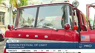 Edison Festival of Light firetruck preview
