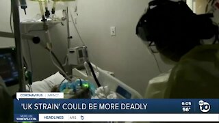 COVID-19 UK strain could be more deadly