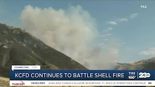Kern County Fire Department continues top battle Shell Fire