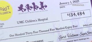 Spirit donates funds to UMC Children's Hospital