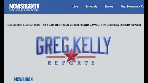 From Greg Kelly - 18 YEAR OLD FILES LAWSUIT FOR ELECTION FRAUD IN GA.