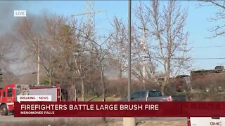 Crews battle brush fires in rural Waukesha County, remains 'fluid situation'