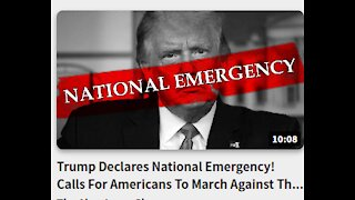 Trump Declares National Emergency! Calls For Americans To March Against The Swamp January 6,