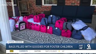 Local mom fills bags with goodies for children in foster care
