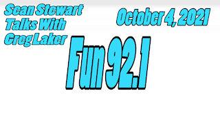Fun 92.1, Sean Stewart Interviews Canisteo Author, Greg Laker, October 4, 2021