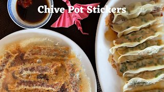 How to make easy version Chive Potstickers/韭菜鍋貼