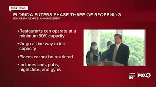 Florida enters phase three of reopening