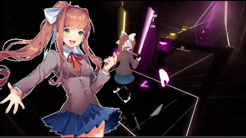 360 Beat Saber! Monika Plays Immortals!