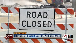 Construction diverts drivers around interchange